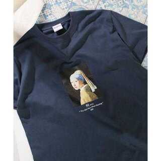 """FREAK'S STORE - 別注""""GIRL WITH A PEARL EARING""""アートTシャツ"""