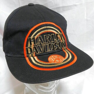 ハーレーダビッドソン(Harley Davidson)のHARLEY-DAVIDSON キャップ デッドストック 90s ハーレー(キャップ)