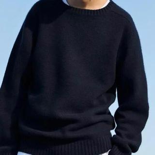 1LDK SELECT - 田中さんのセーター カシミヤ 100% シェットランド ネイビー サイズL