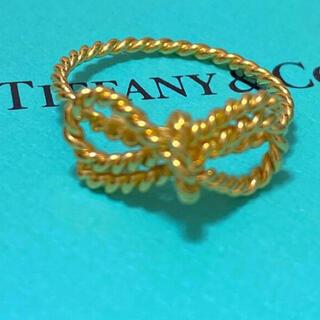 Tiffany & Co. - お値下げtiffanyツイストリボンk18ゴールドリング12号