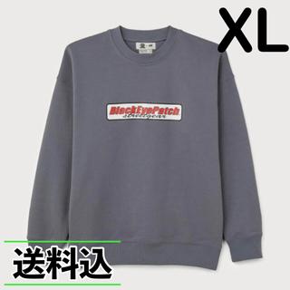 H&M - 【XL】H&M BLACK EYE PATCH コラボ スウェット グレー