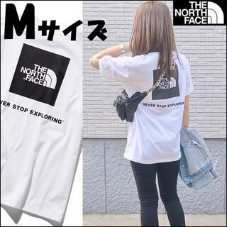 THE NORTH FACE - セール★Mサイズ★ノースフェイス スクエア ロゴ Tシャツ 白