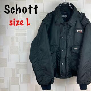 ショット(schott)のSchott ボンバージャケット ナイロン MA-1 ブルゾン スタジャン(ナイロンジャケット)