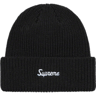 Supreme - 国内正規品 Supreme Loose Gauge Beanie Black 黒