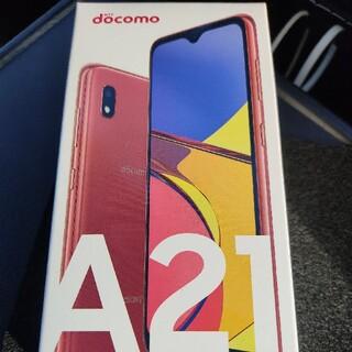 ギャラクシー(Galaxy)のGalaxy A21 docomo red SIMフリー(スマートフォン本体)