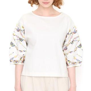 グラニフ(Design Tshirts Store graniph)の新品!グラニフのカットソー(オフホワイト)(カットソー(半袖/袖なし))