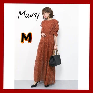 moussy - Moussy ロングワンピース 花柄ワンピース