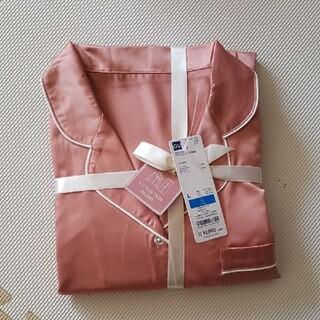 GU - GU サテン パジャマ ルームウェア ジーユー ピンク L