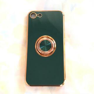【新品・未使用】iPhone7/8(SE2) ケース グリーン ソフトケース