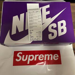 Supreme - 代官山店購入国内正規品 Supreme NIKE  dunk Low ブラック