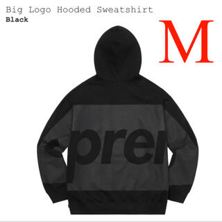 Supreme - Supreme Big Logo Hooded Sweatshirt Black