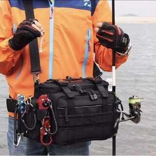 多機能 アウトドア用 3WAYバッグ 釣りバッグ フィッシングバッグ(ウエア)