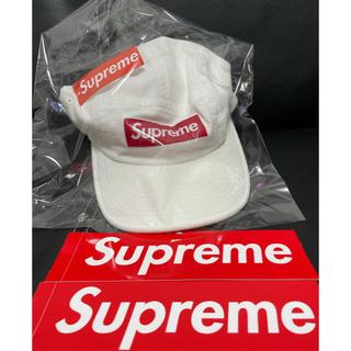 Supreme - Supremeキャップ白 フリーサイズ