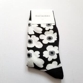 marimekko - marimekko マリメッコ ソックス 靴下 黒白 1足