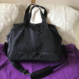 ムジルシリョウヒン(MUJI (無印良品))の無印 サイドポケット付 撥水 ボストンバッグ 黒(ボストンバッグ)