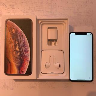 アイフォーン(iPhone)のiPhoneXS 256GB ゴールド SIMロック解除済 (スマートフォン本体)