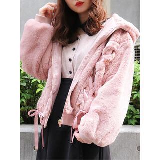 ロジータ(ROJITA)の新品✨タグ付き♪定価10780円 ファーの暖かいアウター ピンク FREEサイズ(その他)
