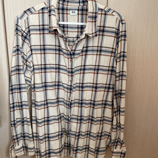 ユニクロ(UNIQLO)のユニクロ フランネルチェックシャツ L(シャツ/ブラウス(長袖/七分))
