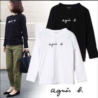 agnes b. - アニエスベー Agnes b 長袖Tシャツ レディース Mサイズ ブラック ロン