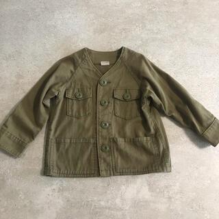 petit main - プティマイン  ミリタリージャケット カーキ 90サイズ