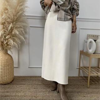 blate 着心地抜群 上質ラフタイトスカート 新品(ロングスカート)