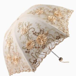 シャンタルトーマス(Chantal Thomass)の【高級】花柄刺繍傘【1809】(傘)