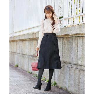 tocco - 美品 tocco closet サスペンダー付きパール装飾プリーツスカート