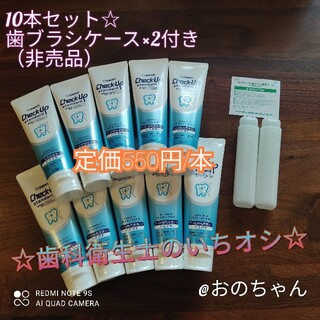 LION - DENT チェックアップ スタンダード 10本セット 歯磨き粉 歯科用