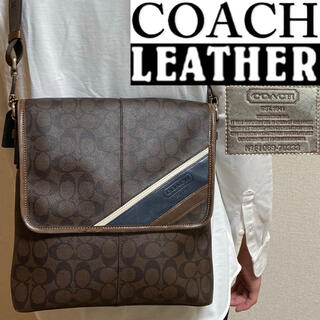 COACH - 美品!COACH コーチ・メンズライン シグネチャー ショルダーバッグ