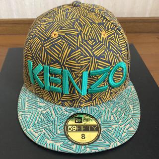 値段交渉受付中KENZO×NEWERAコラボカモフラ柄キャップサイズ63.5cm(キャップ)