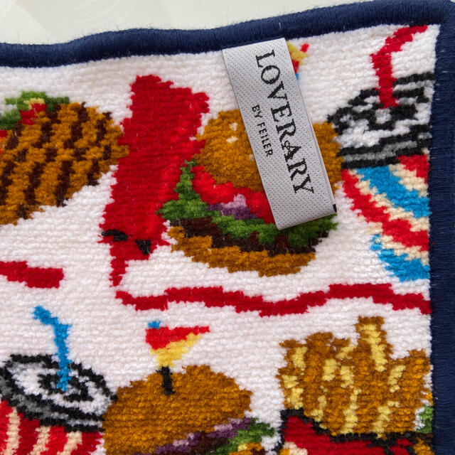 FEILER(フェイラー)のフェイラーハンカチタオルハンバーガー🍔used完売 レディースのファッション小物(ハンカチ)の商品写真