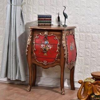 ベッドサイドテーブル 置台 .高級サイドテーブル ナイトテーブル 高級感 アンテ(ローテーブル)