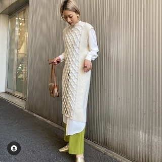 Ameri VINTAGE - LAYERED MESH KNIT DRESS アメリヴィンテージ