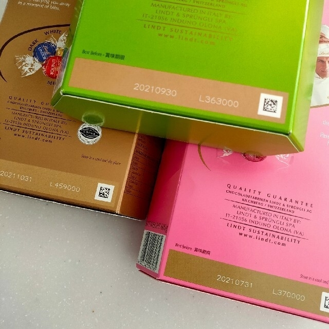 Lindt(リンツ)の②  6種60個 リンツ リンドール チョコレート 食品/飲料/酒の食品(菓子/デザート)の商品写真