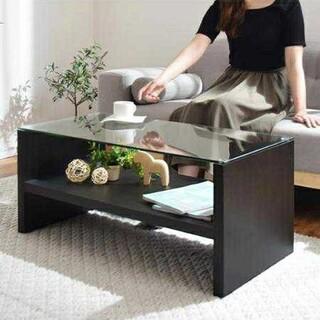 新生活に★オシャレなローテーブル ガラステーブル ブラウン(ローテーブル)