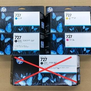 ヒューレットパッカード(HP)のHP DESIGNJET 727 インクカートリッジ 4色セット(オフィス用品一般)