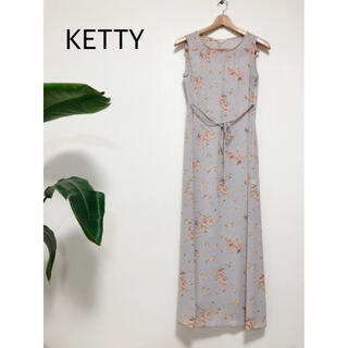 ケティ(ketty)の美品✨KETTY    ケティ 小花柄ロングワンピース(ロングワンピース/マキシワンピース)