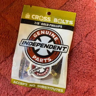 インディペンデント(INDEPENDENT)のINDEPENDENT インディ カラービス GOLD スケボー小物 新品 (スケートボード)