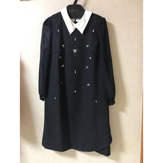 Rirandture - 新品 リランドチュール 襟付き ビジュー ワンピース