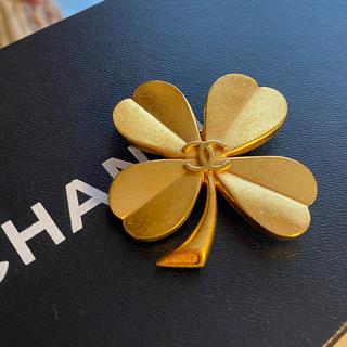 CHANEL - シャネル CHANEL ヴィンテージ ブローチ クローバー
