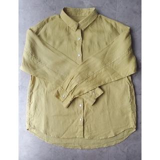 GU - 【GU】メンズリネン長袖シャツ