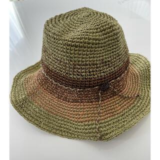 レディース 麦わら 帽子(麦わら帽子/ストローハット)