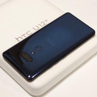 ハリウッドトレーディングカンパニー(HTC)の透け仕様 美品 国内版SIMフリー HTC U12+(スマートフォン本体)
