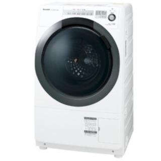 SHARP - シャープ SHARP ES-S7C-WL ドラム式洗濯乾燥機 57L