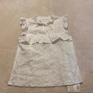 デイシー(deicy)のフラワー刺繍フリルブラウス(シャツ/ブラウス(半袖/袖なし))