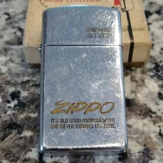 ジッポー(ZIPPO)の93年製·スリムZIPPO  ZIPPO ロゴ(タバコグッズ)