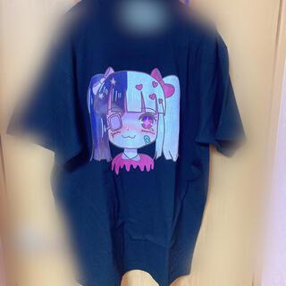 アンコロック(ankoROCK)の病みかわいい サドアニメ 少女 パステルゴス メンヘラ病み系 イラスト 地雷 系(Tシャツ(半袖/袖なし))