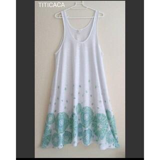 titicaca - 【美品】TITICACA Aラインワンピース ペイズリー柄
