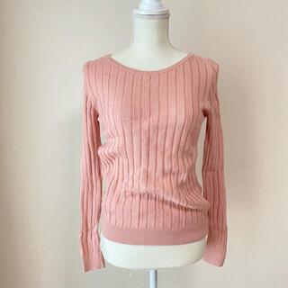 UNIQLO - UNIQLO*ユニクロ カシミヤ混 春色ニットトップス ピンク 春ニット 春服