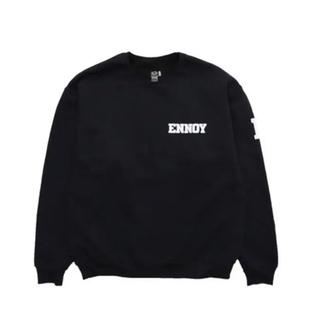1LDK SELECT - Ennoy College Sweat  XL 中古 BLACK